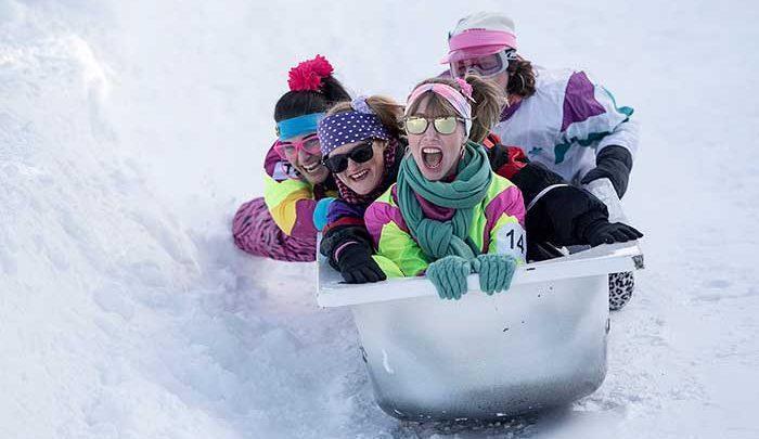 رقابت اسکی با وان حمام در سوییس 8 ساله شد!، تصاویر