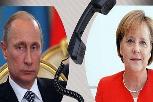 پوتین و مرکل درباره سوریه و لیبی رایزنی کردند